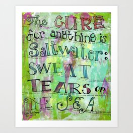 saltwater cure Art Print