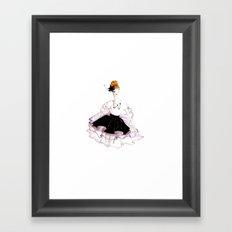 Rose, Noir & Blanc Framed Art Print