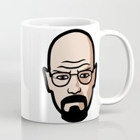 walter white Mugs featuring Walter White by Joe Bidmead