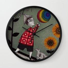 Henry's Rainbow Wall Clock