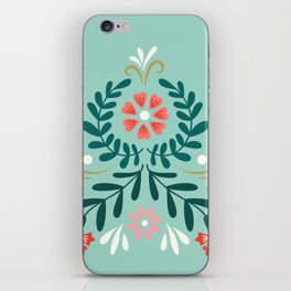 Floral Folk Pattern iPhone Skin