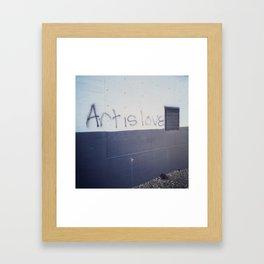 Art is Love Framed Art Print