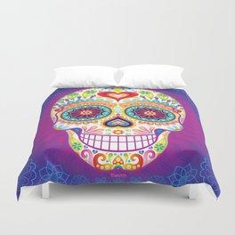 Sugar Skull Art (Luminesce) Duvet Cover