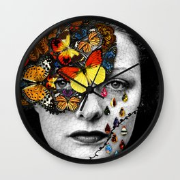 Butterfly Jewel. Wall Clock