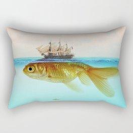 Goldfish Tall Ship Rectangular Pillow