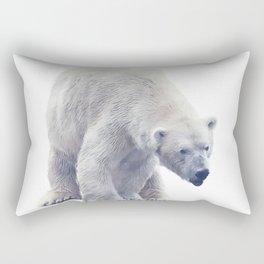 Digital painting of Large Polar bear  on white background. Rectangular Pillow
