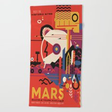 Mars Tour : Space Galaxy Beach Towel