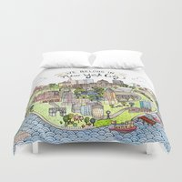 new york city Duvet Covers featuring New York City Love by Brooke Weeber