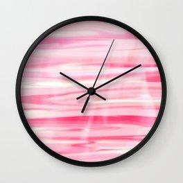 Cute pink paint wood Wall Clock