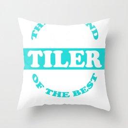 tilers tiles gift profession handicraft job Throw Pillow