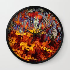 pluie d'automne/fall's rain Wall Clock
