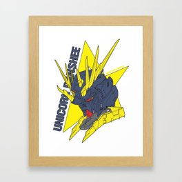 gundam unicorn banshee Framed Art Print