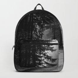 The Dark Path (Black and White) Backpack