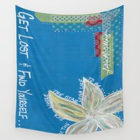 starfish Wall Tapestries featuring Starfish  by Julie M Studios