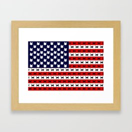 Cat Flag Framed Art Print