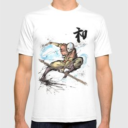Aang from Avatar the Last Airbender sumi/watercolor T-shirt