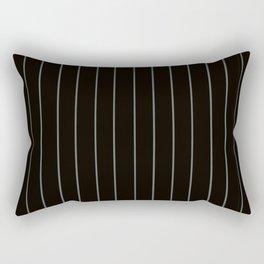 Black with Gray Pinstripes Rectangular Pillow