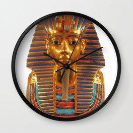 King Tut Egyptian Death Mask Wall Clock