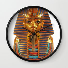 King Tut Egyptian Death Mask Wall Clock