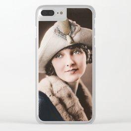 Florence Fair Silent Film Star Clear iPhone Case