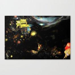 Red War Planet Canvas Print