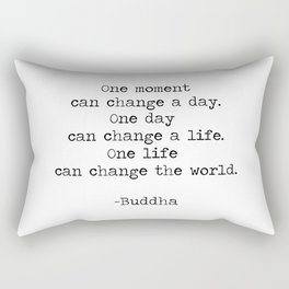 Make the moments count Rectangular Pillow