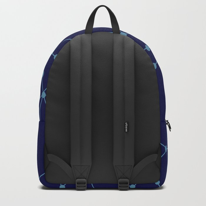 Blue abstract pattern . Mesh Backpack