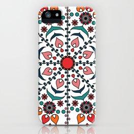 Hungarian colors mandala iPhone Case