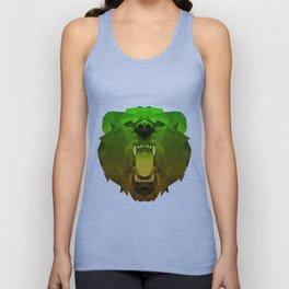 Bear | Green Polygon Triangle Abstract Artwork Unisex Tank Top