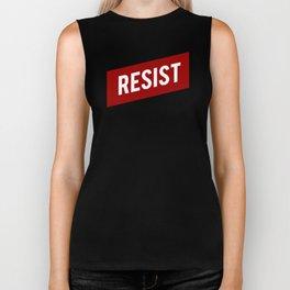RESIST red white bold anti Trump Biker Tank
