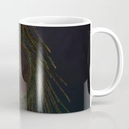 Mystical Fantasy Elegant Blue Tropical Peacock Feather Dark Design Coffee Mug