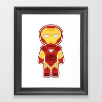 Chibi Iron Man Framed Art Print