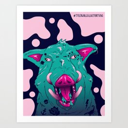 Aesthetic Bacon Art Print