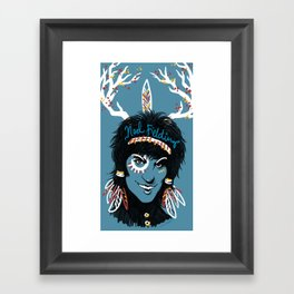 Blue Diamonds Framed Art Print