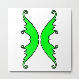 Fairy Wings Green Metal Print