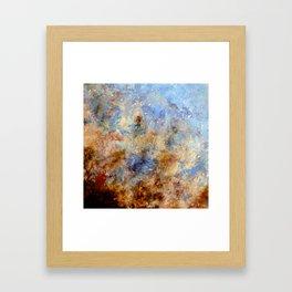Gentle Shores - Original Abstract Art by Vinn Wong Framed Art Print