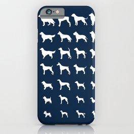 All Dogs (Navy) iPhone Case