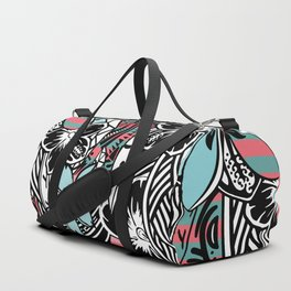 Polynesian Flora Touch Of Color Duffle Bag
