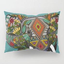floral elephant teal Pillow Sham