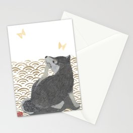 SHIBA INU, DOG, SEIGAIHA, JAPANESE Stationery Cards