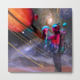 Finding a Rare Space Jellyfish Metal Print