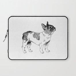 French Bulldog Ink Drawing Laptop Sleeve