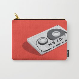 90's Kid Cassette Tape Illustration Carry-All Pouch