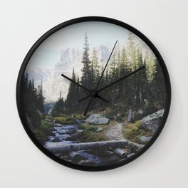 Rocky Mountain Creek Wall Clock