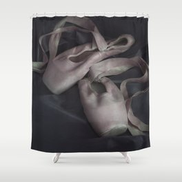 Pastel pink points ballet shoes Shower Curtain