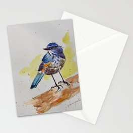 Himalayan Bluetail Bird- in watercolor Stationery Cards
