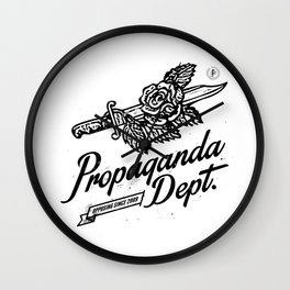 Propaganda Dept. Opposition Wall Clock
