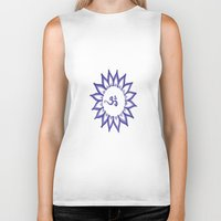 ohm Biker Tanks featuring Ohm Flower by Michelle_
