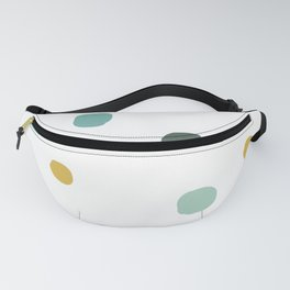 colorful hand drawn circle pattern background illustration Fanny Pack