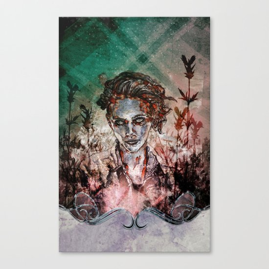IN HER VICTORY GARDEN Canvas Print